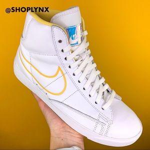 Nike White Blazer Mid Rebel High Top White Sneaker